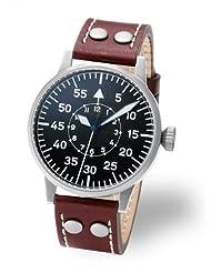 Laco Type B Dial Swiss Quartz Pilot Watch with Sapphire Crystal 861693
