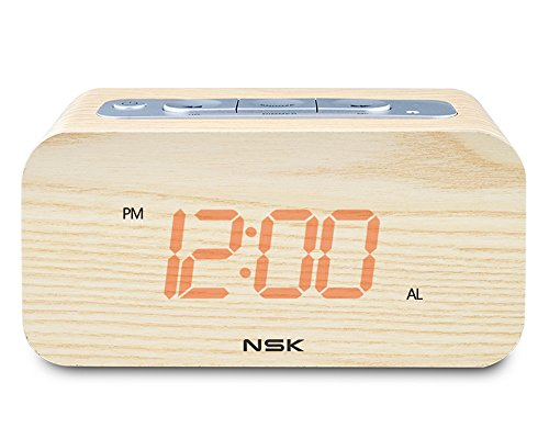 nsk-wood-grain-clock-radio-stereo-audio-speaker-dual-alarm-sleep-memory-function