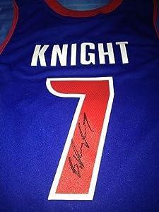 Brandon Knight Autographed Jersey - DETROIT PISTONS COA - Autographed MLB Jerseys by Sports+Memorabilia