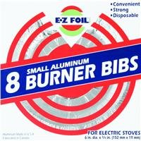 Electric Hefty Ez Foil Burner Liners For Electric Stoves, Small Aluminum, 8 Pack