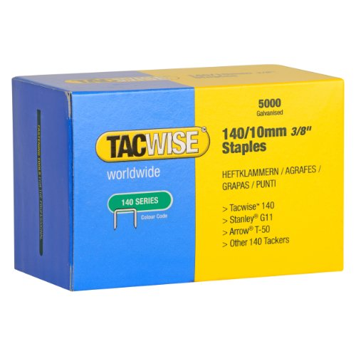 140 Series 10mm Heavy Duty Staples (5000 Pieces) By Tacwise
