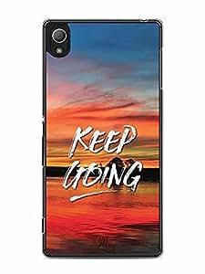 YuBingo Keep Going Designer Mobile Case Back Cover for Sony Xperia Z4