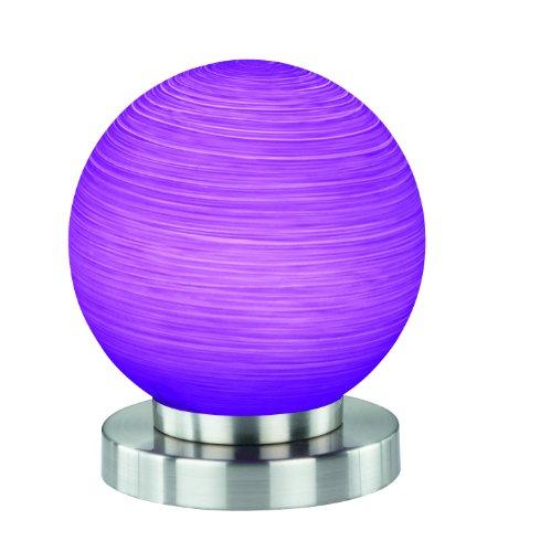 Reality-Leuchten-LED-Tischlampe-in-nickel-matt-Kugelglas-lila-gewischt-inklusive-SMD-LED-5W-390-lm-3000K-inklusive-AnAus-Schnurschalter-o-15-cm-Hhe-18-cm-R52703192