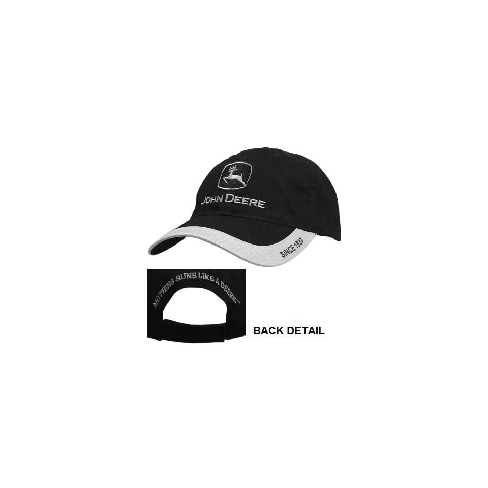 7248d954c7215 John Deere Black and Silver Trademark Hat Clothing on PopScreen