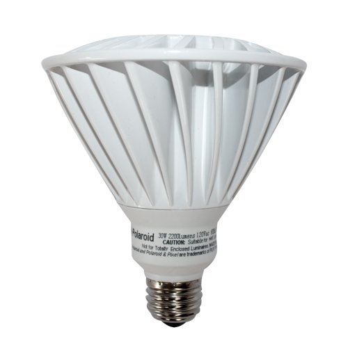 Polaroid Lighting Plpar38W-150.2200.30.2D 150-Watt Equivilent 2200-Lumen Par38 Dimmable Led Light Bulb, Daylight