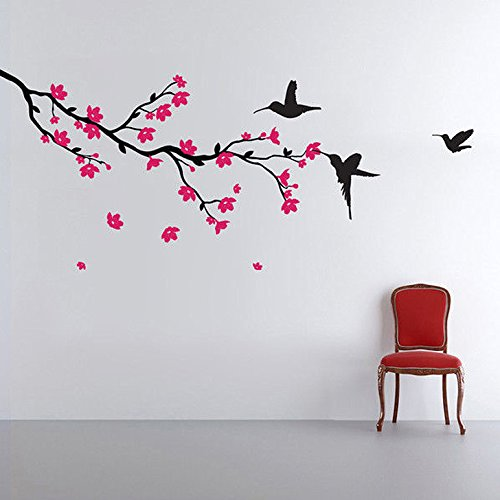 'Hummingbirds and Blossoms' Wall Sticker