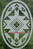 Native American Oval Etched Window Decal Vinyl Glass Cling - 15