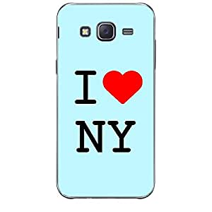 Skin4gadgets I love New York - NY Colour - Light Blue Phone Skin for SAMSUNG GALAXY J1