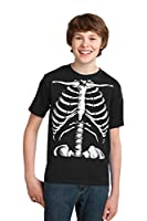 Skeleton Rib Cage | Jumbo Print Novelty Halloween Costume Youth T-shirt