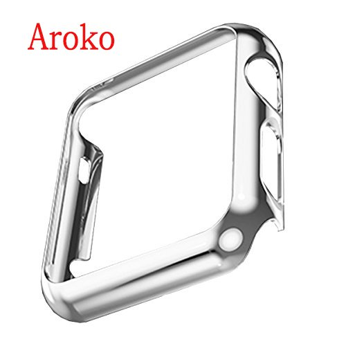 Apple Watch Case,Aroko Super Thin PC Plated Plating Protective Bumper Case for Apple Watch 42MM (PC Case Silver 42mm) (Bumper Bands compare prices)