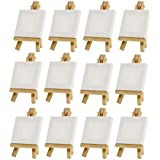 Mini Small Artists Painting Craft Drawing Canvas & Easel Set, 3 x 3, Set of 12