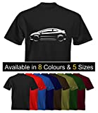 Velocitee Mens Premium T-Shirt Honda Civic Type R Stylised Image