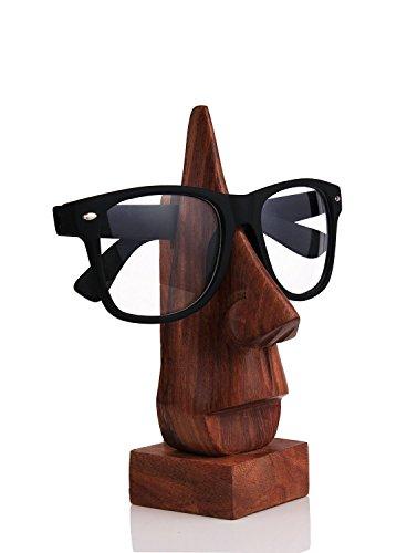 Intagliato mano classico palissandro-Nose forma degli occhiali Spettacolo titolare unico display stare in piedi