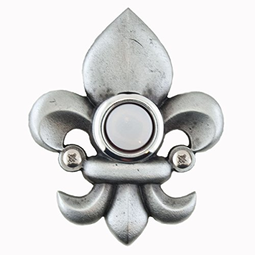 Fleur-De-Lis Decorative Doorbell with lighted button
