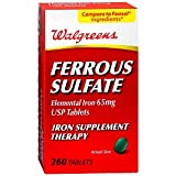 Walgreens Ferrous Sulfate 65mg Iron Tablets, 260 ea