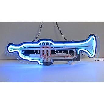 Neonetics Home Indoor Pub Restaurant Hotel Room Decorative Trumpet Shaped Neon Sign