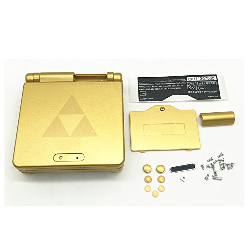 Meiruian Gold Replacement Full Housing Case Cover for GBA SP Gameboy Advance SP (Gameboy Advance Sp Full Housing compare prices)