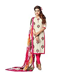 Rudraksh Fashion Women's Cotton Dress Material (dm7_03_Multi-Coloured)