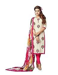 Rudraksh Fashion Women's Cotton Dress Material (dm7_03_Multi-Coloured)