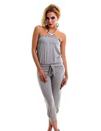 Xueyi Women's Jumpsuits Slim And Leisure Clothing Brightness Of The Stars One Size Gray