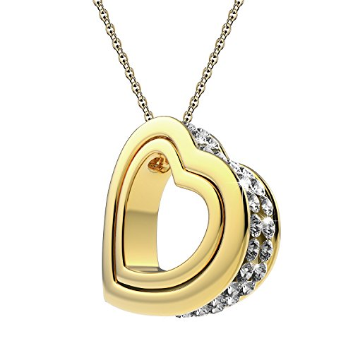 UHIBROS Dual Heart Necklace Jewelry Women's Double