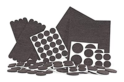 Felt Pads, Heavy Duty Adhesive Furniture Pads - Floor Protector for Tiled, Laminate, Wood Flooring - 98 Pieces Floor Protectors, Felt Chair Pads, Hardwood Floor Protector of Various Sizes Included