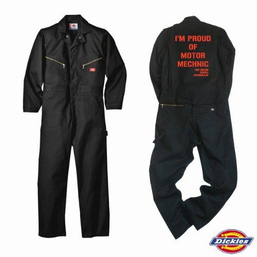 代引き可!【Dickies】ディッキーズ 長袖 つなぎ ツナギ カスタム カバーオール 「BLACK」「バイク・車・シンプル系」