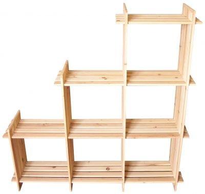 Hergestellt für DEMA Holzregal 6 Fächer
