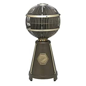 Fanimation FP3320OB Fargo Tabletop Fan, Oil Rubbed Bronze/Antique Brass Finish