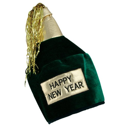 HNY Bottle Head Hat Party Accessory (1 count) (1/Pkg)