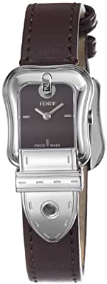 Fendi Women's F370222 Analog Display Swiss Quartz Brown Watch