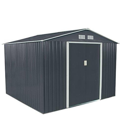 xxxl-metall-geratehaus-277x309x192cm-gerateschuppen-garten-schuppen-gartenhaus-satteldach-grau