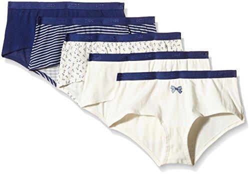 Dim Pockets Coton-Pantaloncini Donna    Bleu (Lot Marine Noeud Ancres) L