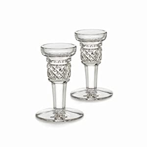 Waterford Crystal Mallory Candlestick Pair 4""