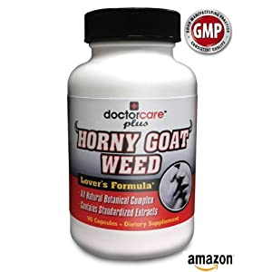 Horny Goat Weed | #1 TOP SELLER! | Highest Potency Blend 904mg! 90 Capsules | Supports Testosterone Production | Male Enhancement- Only TOP SELLING Blend with Tribulus Terrestris | 100% Guaranteed | All Natural, Safe, Fast, Potent By Doctorcareplus - Introductory Price Best Consumer Product Reviews 2013 images