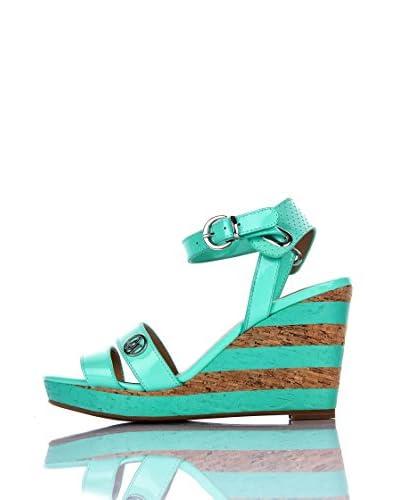 Armani Jeans Sandalo Zeppa V5596-56 6R [Verde]