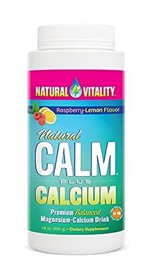 Natural Vitality Natural Calm Plus Calcium Magnesium Anti Stress, Organic, Raspbery Lemon