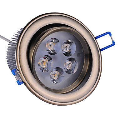 5W Led Ceiling Light With 5 Leds Driver Included (Swivel 0-60¡Ã , Beam 5¡Ã/30¡Ã/45¡Ã/60¡Ã , Cutting Size 93Mm)