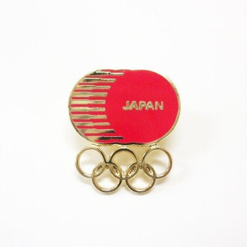 【日本オリンピック委員会公式ライセンス商品】JOC ピンバッジ(レッド&ゴールド)