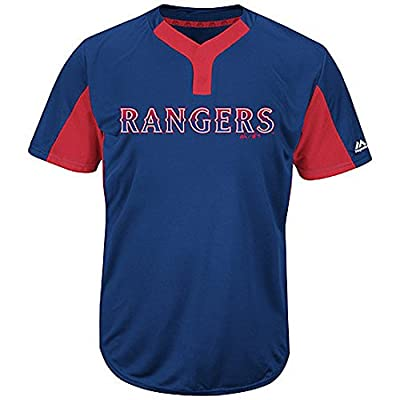 Texas Rangers MLB 2-Button Colorblocked Jersey