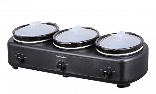 bestappliance-triple-trio-slow-cooker-three-15-quart-crocks-pot