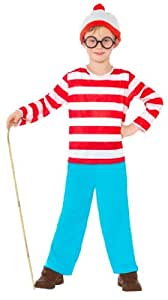 Smiffy's Where's Wally Childrens Fancy Dress Costume - Small, 128 cm, Age 4-6 Years