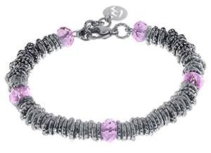 Armband mit Kristallen in rosa. Designed in Italy. Luca Barra BK394