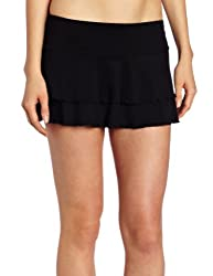 Body Glove Women's Smoothies Lambada Mesh Cover Up Skirt,Black,Small