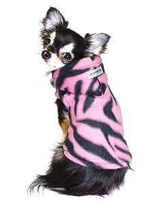 Hip Doggie Pink Tiger Polar Fleece Hoodie, Small