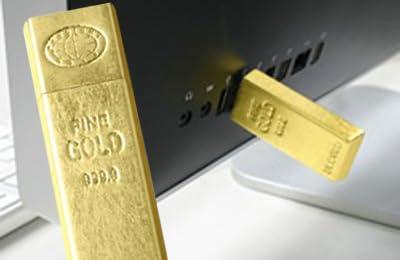 箔一 金塊型USBメモリー GOLD INGOT USB MEMORY A105-03019