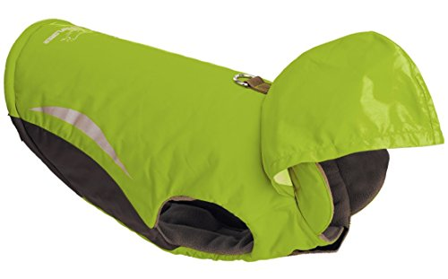 EXPAWLORER Sport Winter Wind Breaker Waterproof Dog Parka Hoodies Clothes with Hood , Green Large (Winter Jacket For Bulldog compare prices)