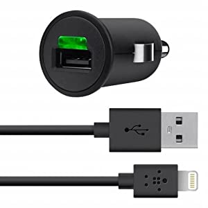 Belkin MIXIT 2.1 AMP/10 Watt Car Charger with Lightning Cable for iPhone 5/5S/5c from Belkin