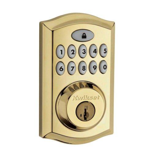 913Trl L03 Ul Smartcode 913 Polished Brass Electronic Deadbolt. Electronic Deadbolt-Yow