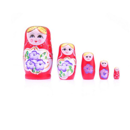 BestDealUSA Set of 5 Cutie Nesting Dolls Matryoshka Madness Russian Doll - 1